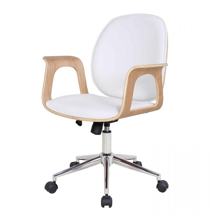 Chaise De Bureau Pivotante Kinnula Frene Blanc Chaise Bureau Bureau Pivotant Mobilier De Salon