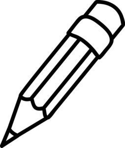 Clip Art Black And White Pencil Clipart Black And White Pencil Clipart