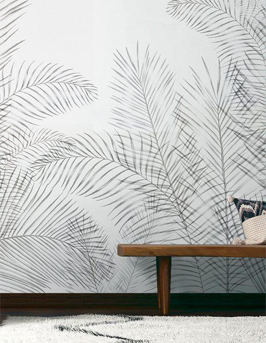Panoramique BOTANIC Vinyle sur papier motif tropical, Beige Saint