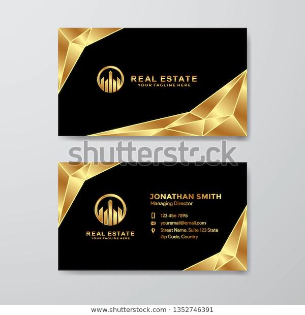 Luxury Golden Business Card Stock Vector Royalty Free 1352746391 In 2020 Business Card Stock Business Cards Cards