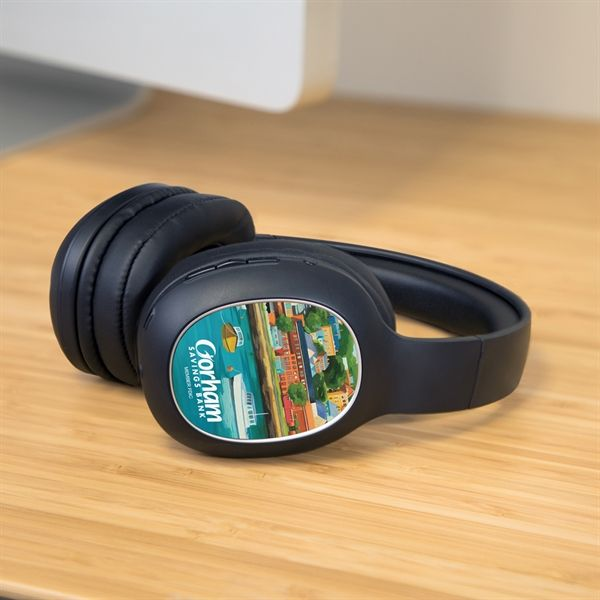 c603c968bce1b3 MyWorld™ Bluetooth headphones personalized with your custom imprint or  logo. One piece minimums! #headphones #bluetooth #tech #technology  #holidaygiftideas ...