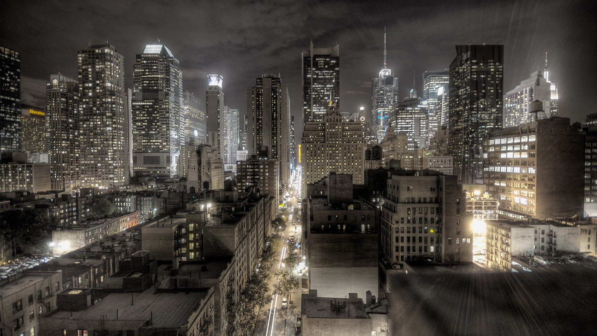 Hdr Usa Night Cityscape New York City Digital Art City Wallpaper City Wallpaper Usa Wallpaper
