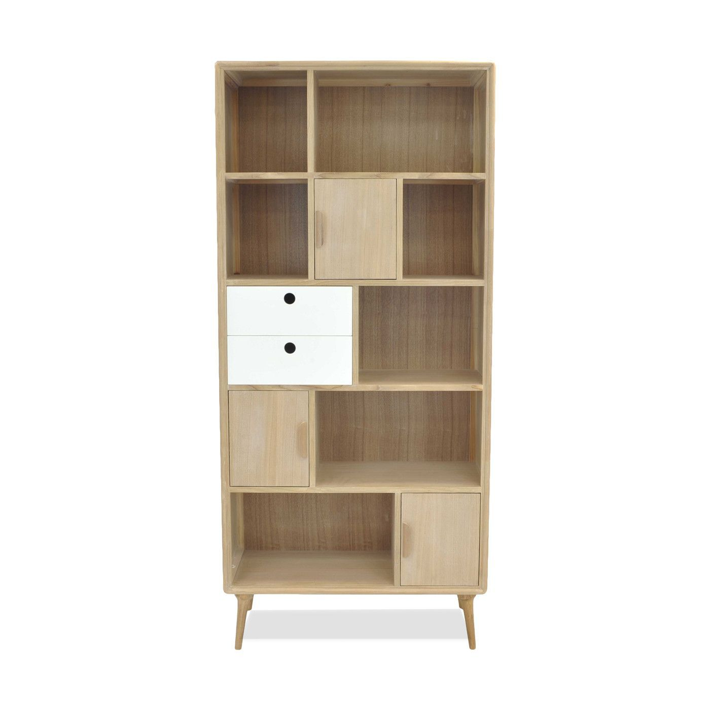 Mabel bookcase whitenatural products wood veneer and spaces