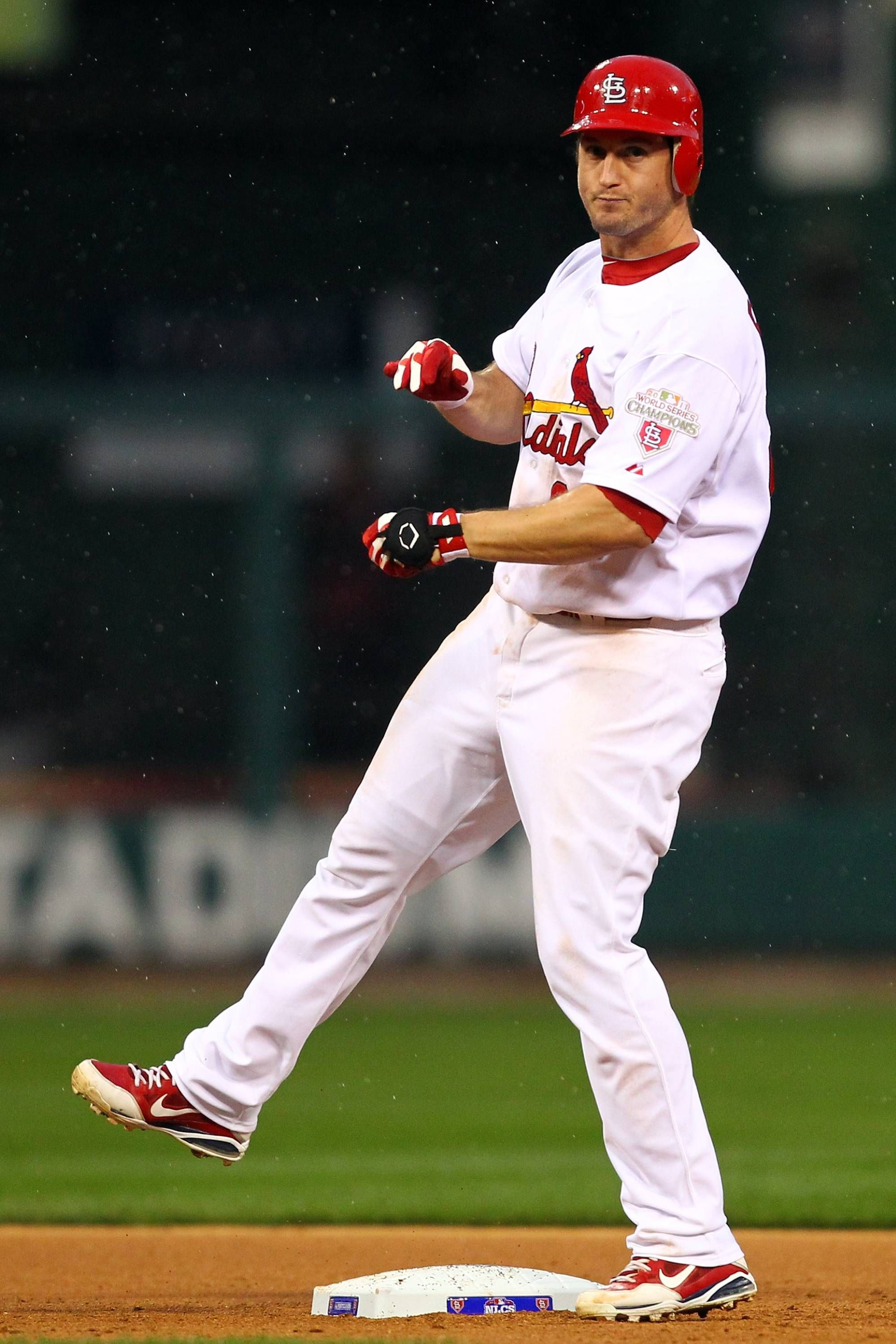 Game 3 of the NLCS David Freese with a double 101712