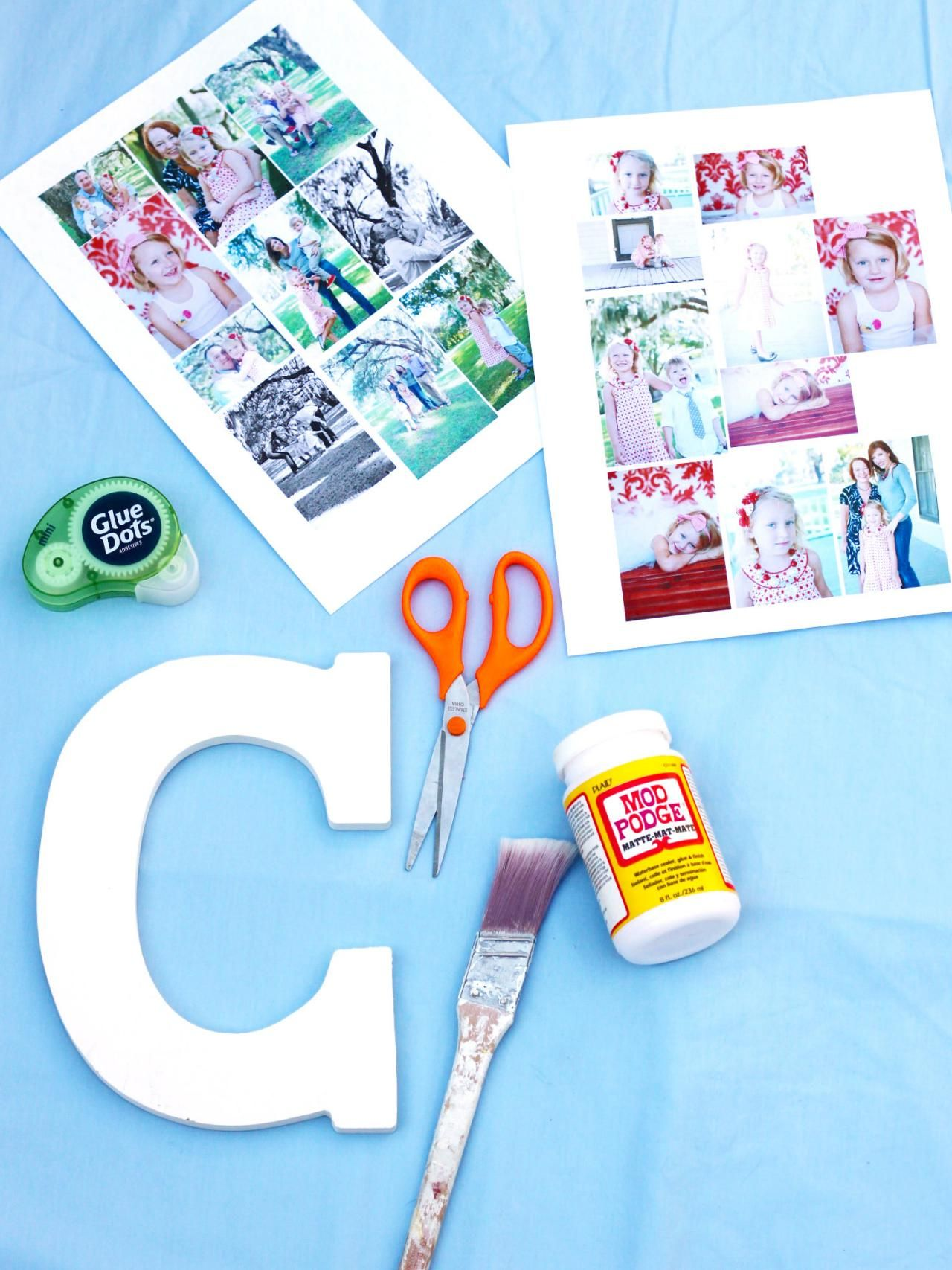 How to Make a Photo Collage on a Big Letter Make a photo