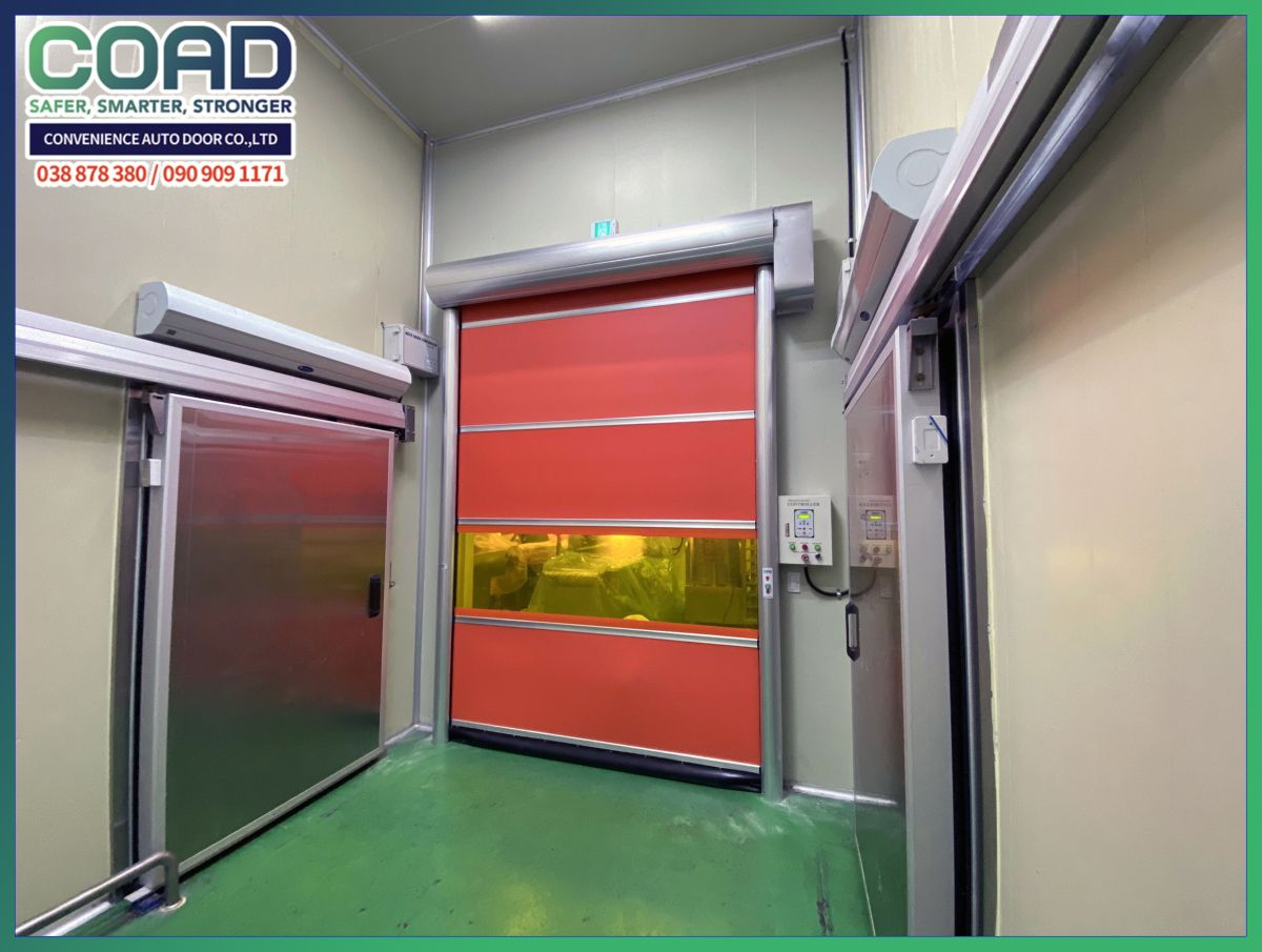 Negative room pressure with High Speed Automatic DoorCOAD