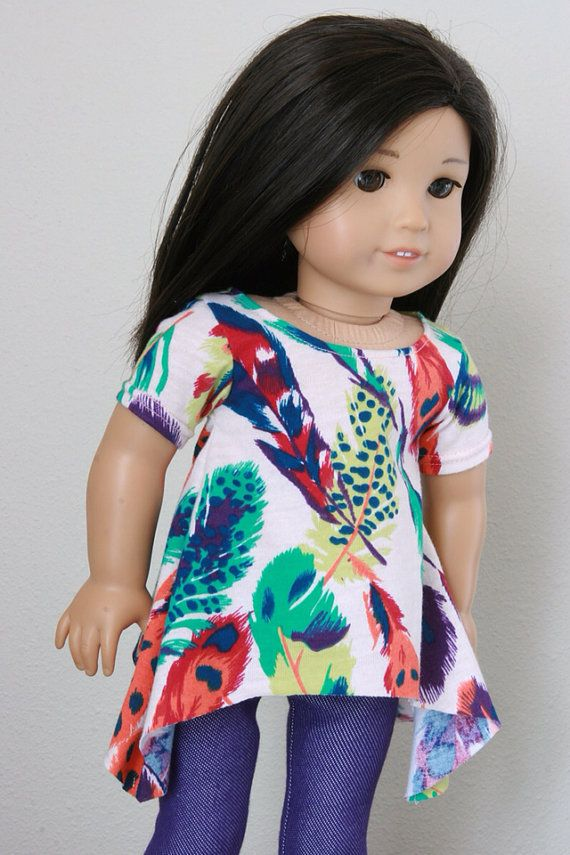 Modern Banyan Tunic with Feathers to fit American Girl or other 18 ...