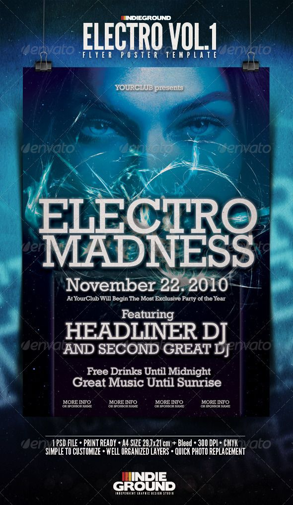 Electro Flyer\/Poster Electro music, Party poster and Event flyers - electro flyer