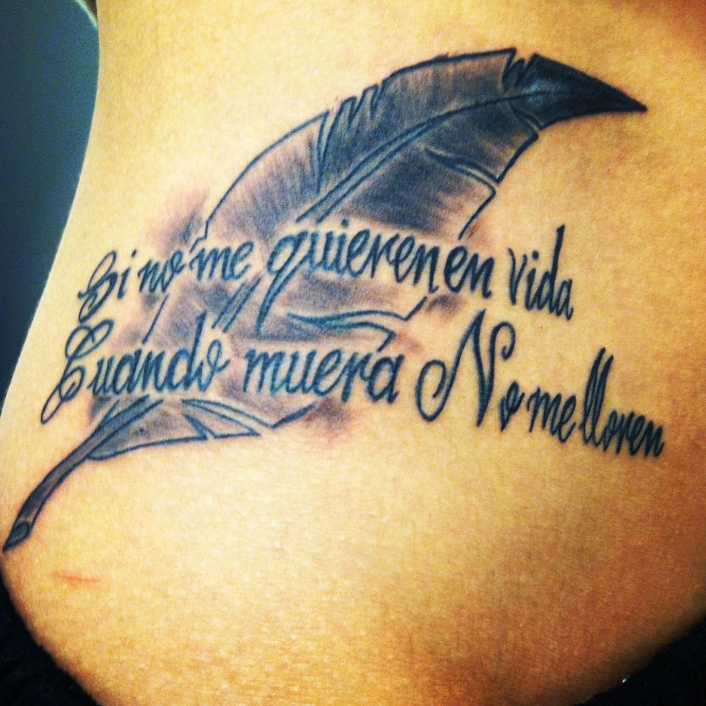 Hecto Lavoe. Tattoo.Quote.Spanish.