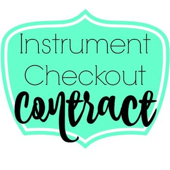 Instrument Checkout Contract  Contract Agreement Instruments And