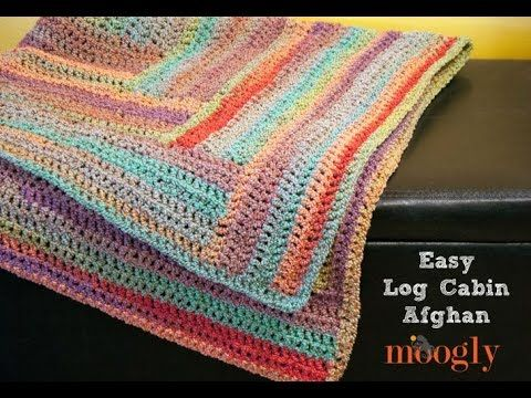 How to Crochet: Easy Log Cabin Afghan   Tejido Crochet Realizados ...