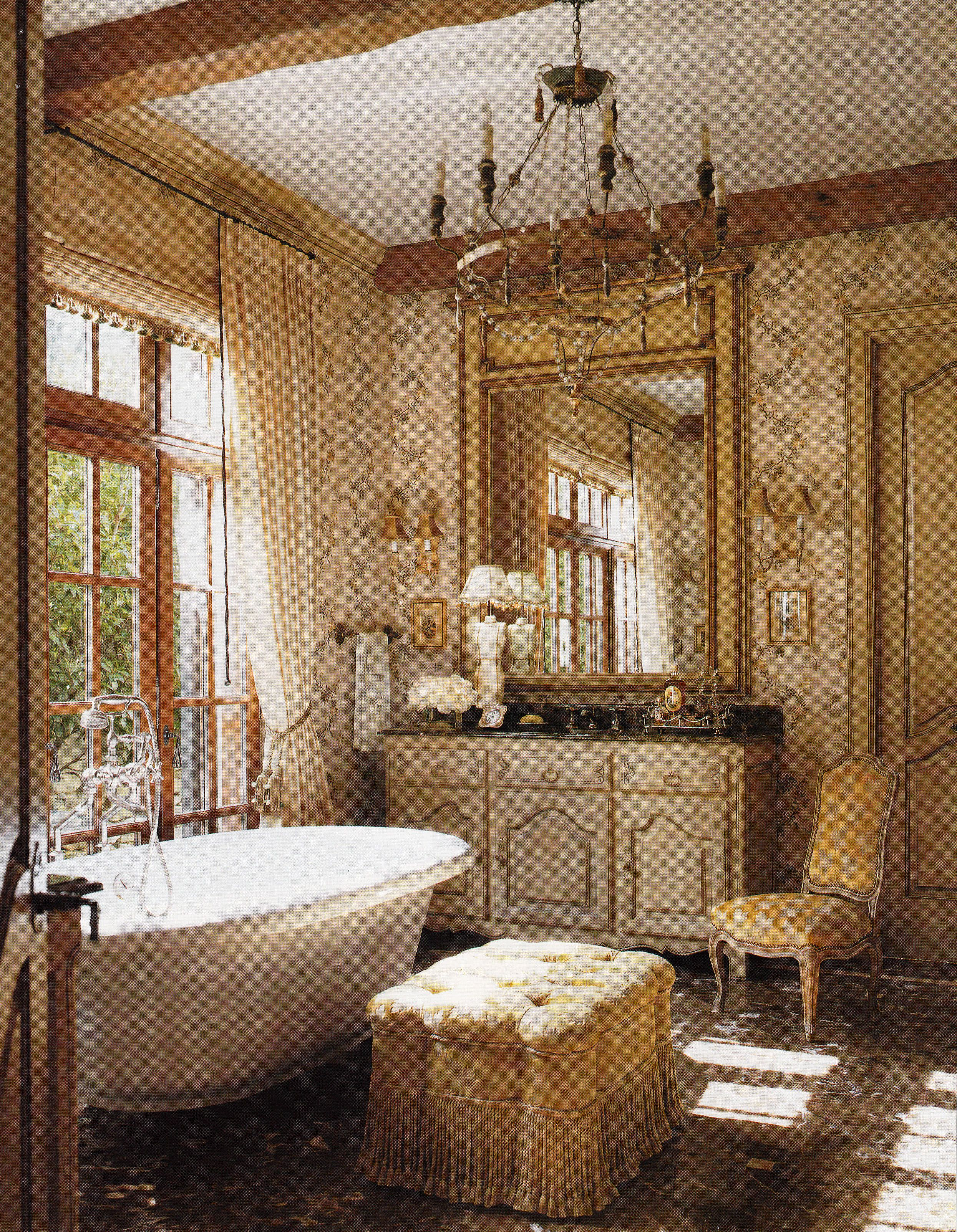 Country French Bathroom Jack Susan Arnold Architect And Interior French Country Bathroom French Country House Beautiful Bathrooms