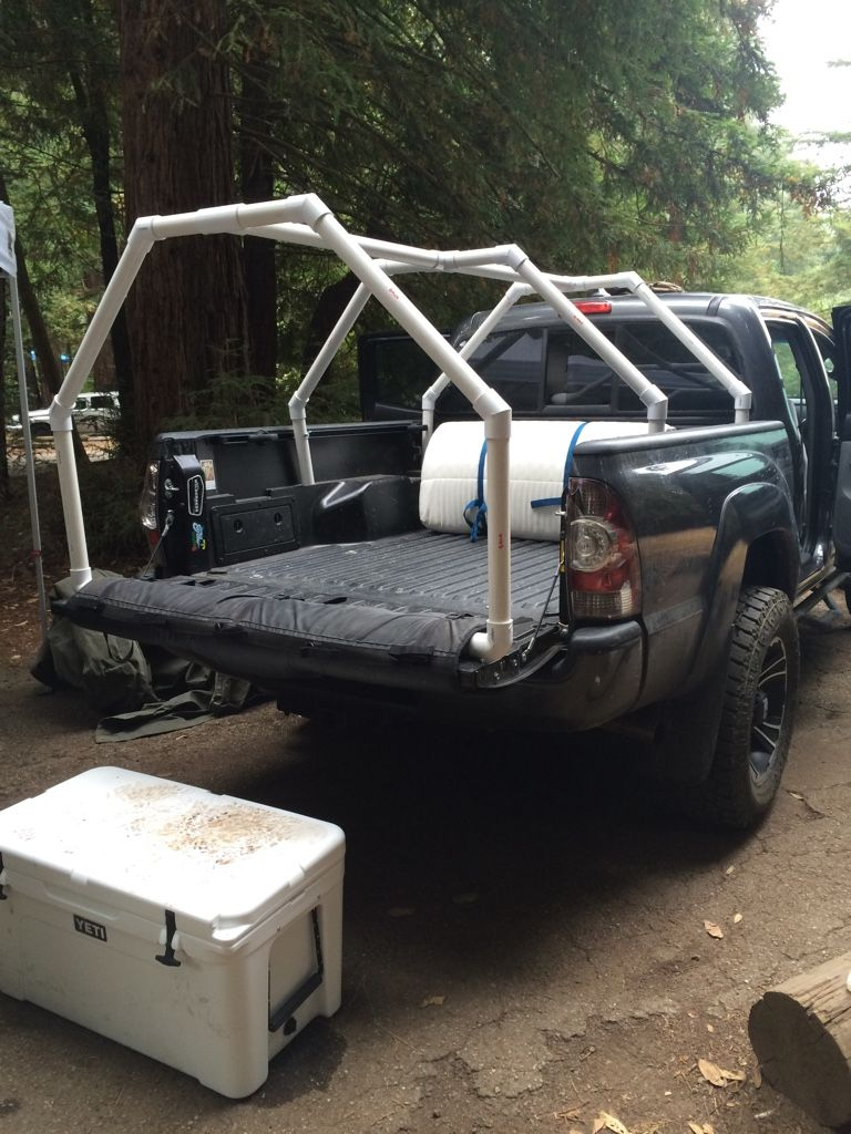 If I Get A Bigger Garage Tundra Mostly For The Added Space Camping Trips Sleep In Bed Of Truck With PVC Skeleton And Canvas