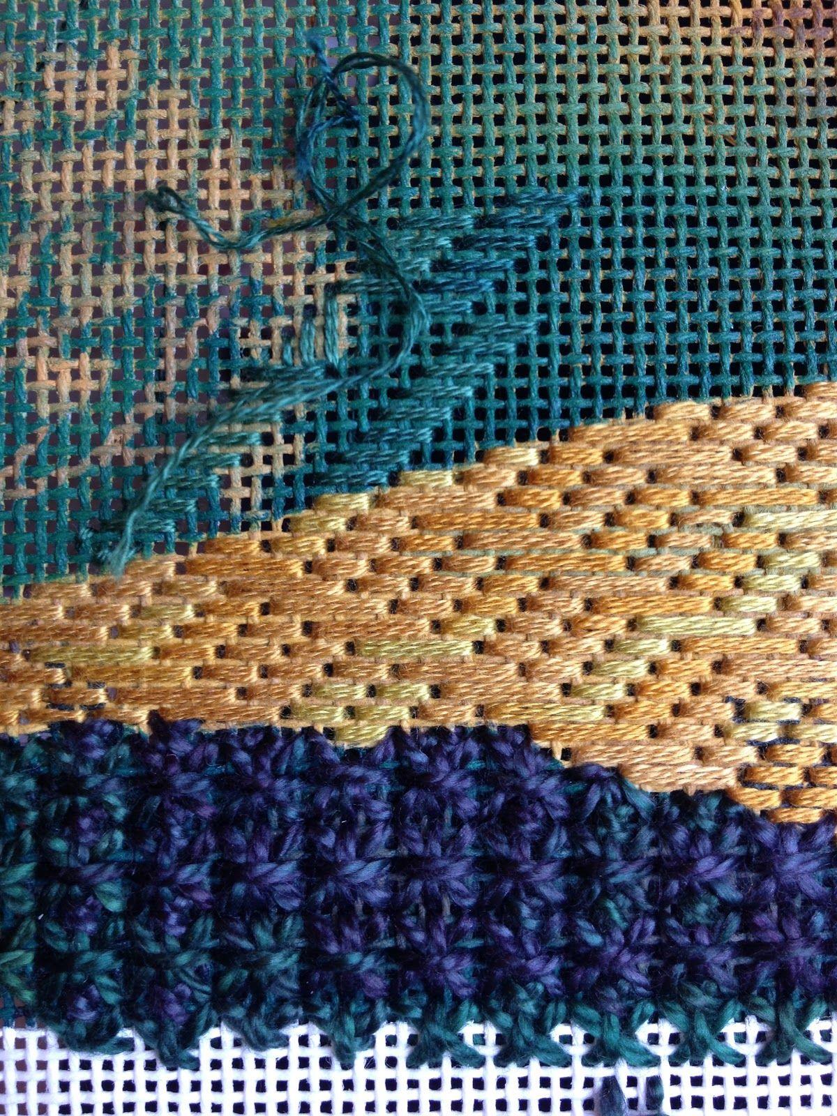 Victorian step stitch on the horizontal