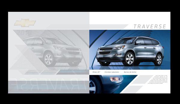 GM Accesories Brochures by Mauricio Muñoz, via Behance