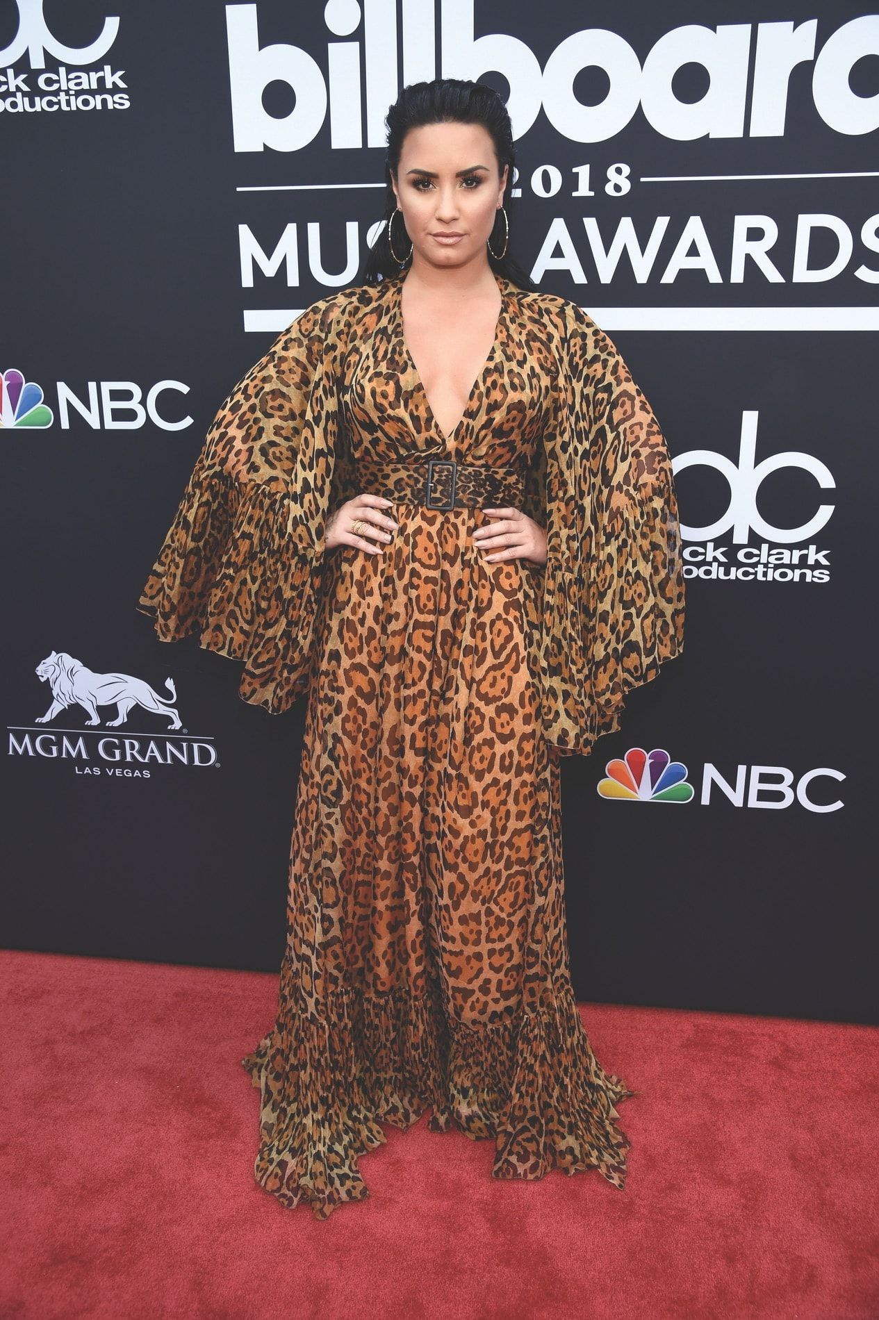Recording artist Demi Lovato attends the 2018 Billboard Music Awards ...