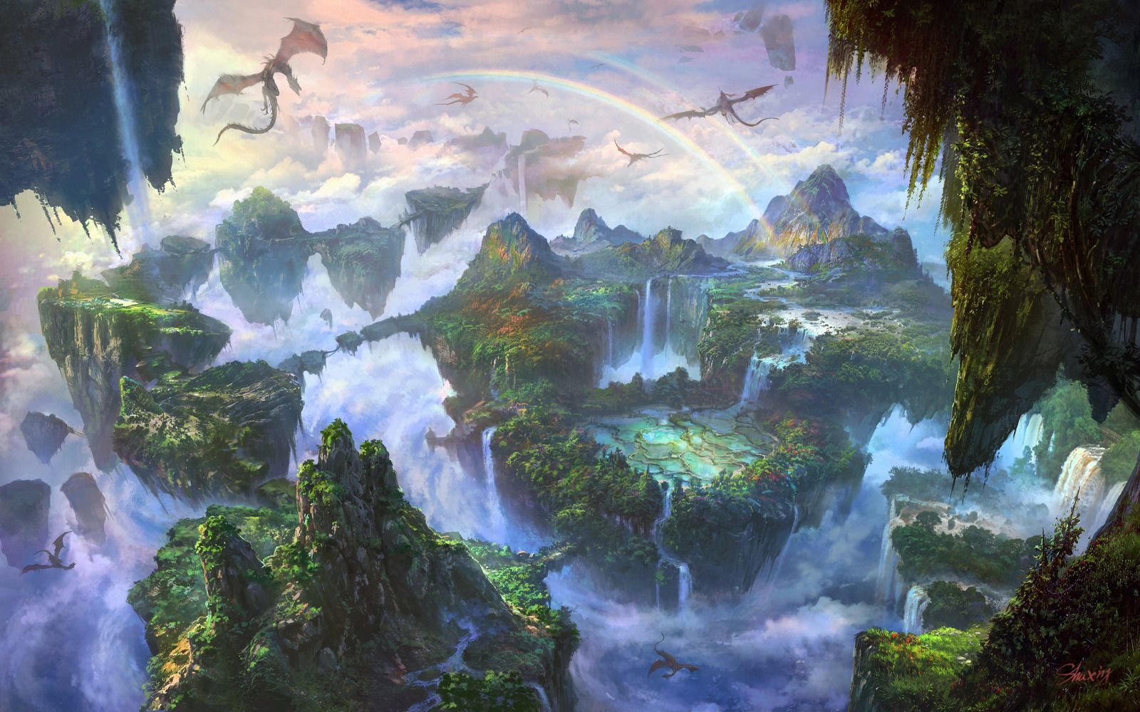 Artist Showcase Li Shuxing Fantasy art landscapes