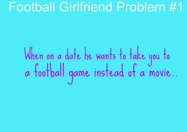Football Girlfriend Problem #1 | Football girlfriend, Hockey ...