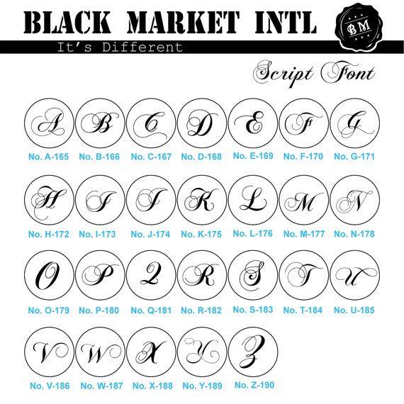 Curly Font Monogram Wax seal Sticker U