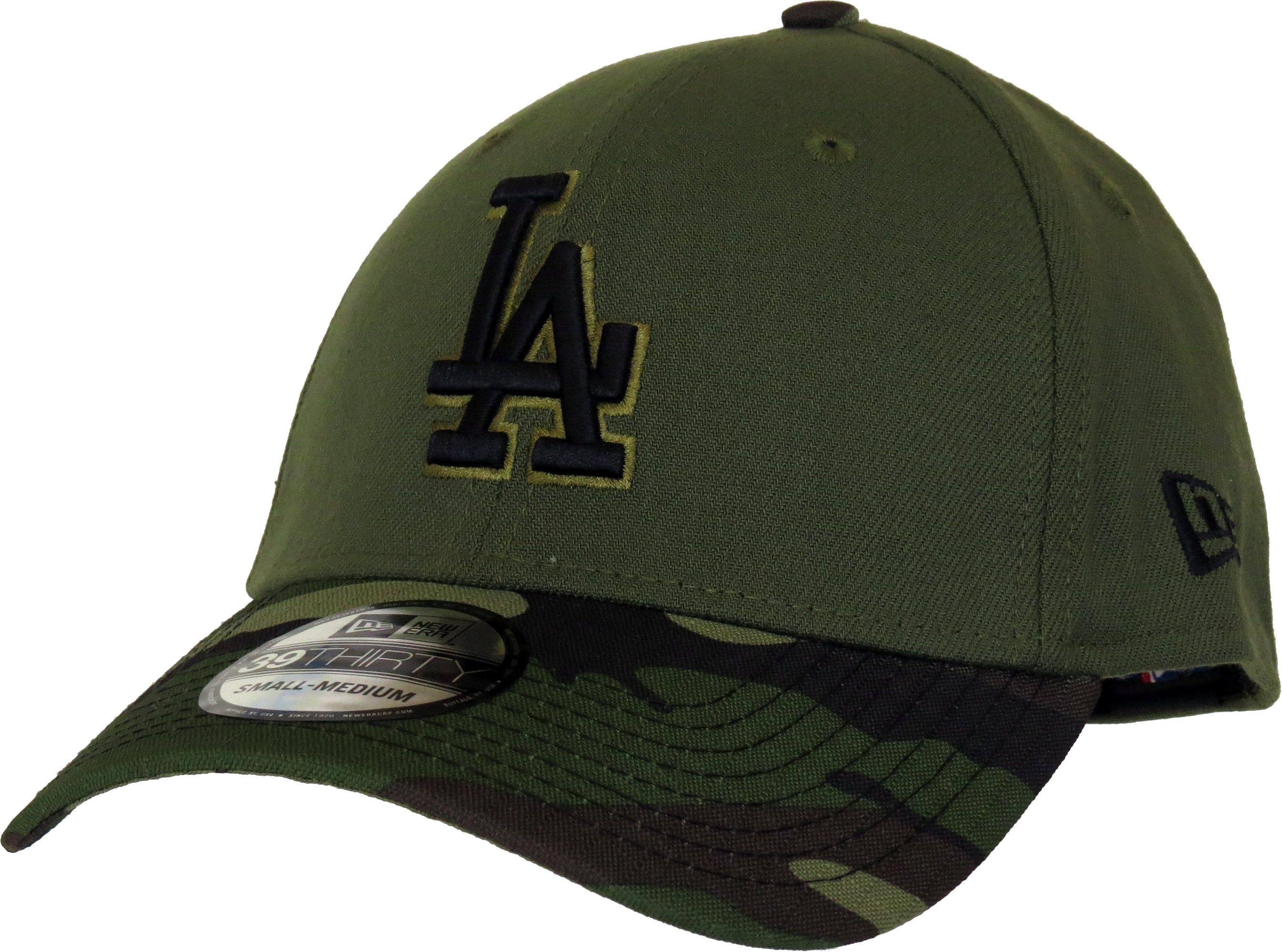 New Era 39Thirty Los Angeles Dodgers Memorial Day Baseball Cap. Green eaabc0221fe