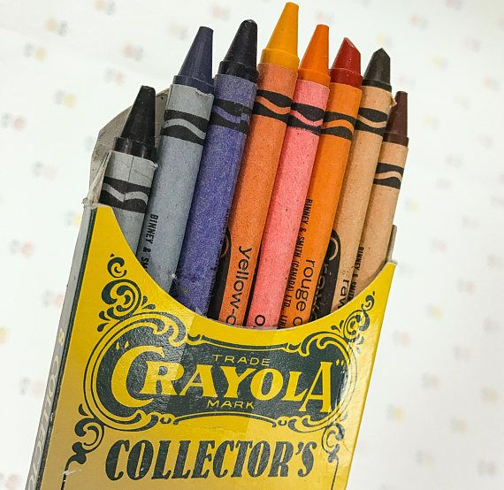 a pack of vintage crayola crayons with 8 collectors colors crayons