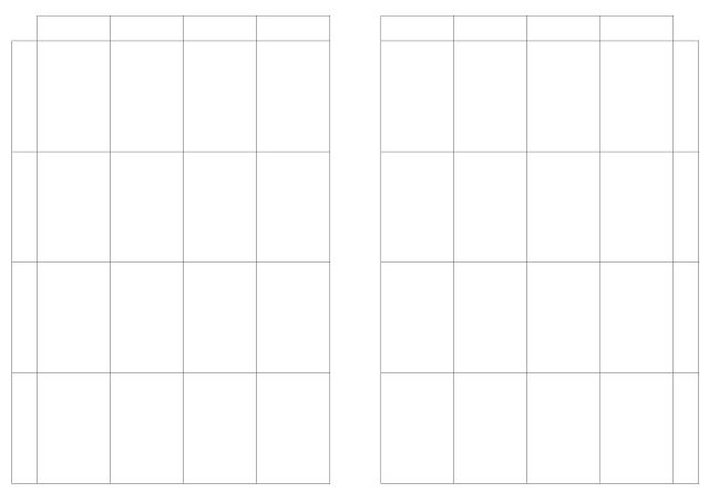 Free Printable A5 Planner Insert Flexible Layout Horizontal