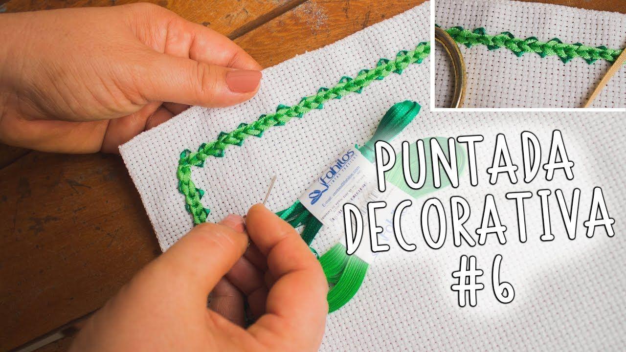 Bordado a mano, puntada decorativa #6 facil de hacer / Easy handmade ...