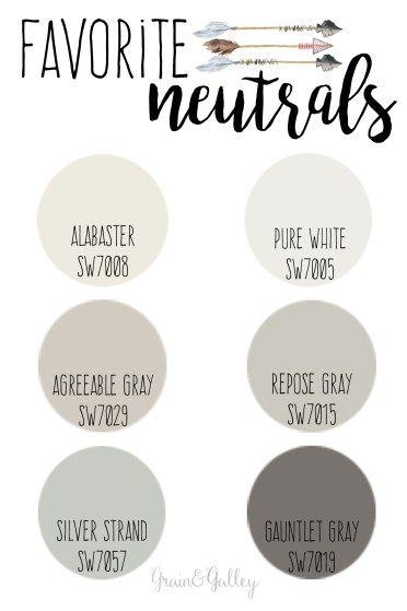 Paint Colors // Neutral Favorites Trending! // Grain & Galley Interiors