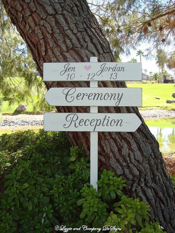 Rustic Wedding Sign - EnCHanTinG Style - CeReMoNy SiGn & ReCePTion SiGn by lizzieandcompany, etsy