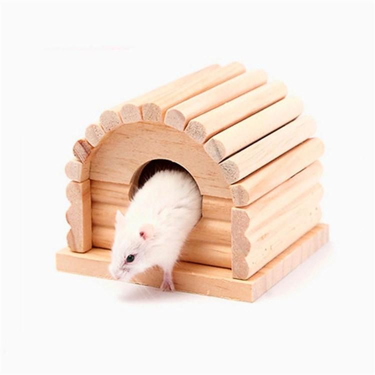 ハムスターハウス 家 小動物の部屋 アーチ形 住宅 木製 休憩所 ゲージ内装 ハムスター ハムスターの家 動物