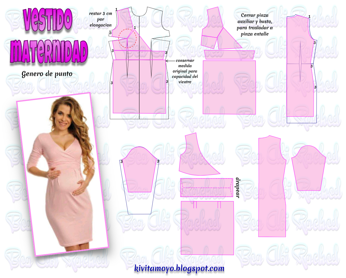 KiVita MoYo : VESTIDO MATERNIDAD | Patrones de costura | Pinterest ...