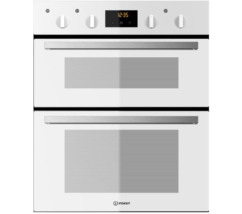 Built In Electric Double Oven White Wiring Diagram For Professional Hotpoint Dh53ws Newstyle Builtin Indesit Idu 6340 Under Kitchen Rh Pinterest Com Bosch Hbm13b221b Fimd23wh