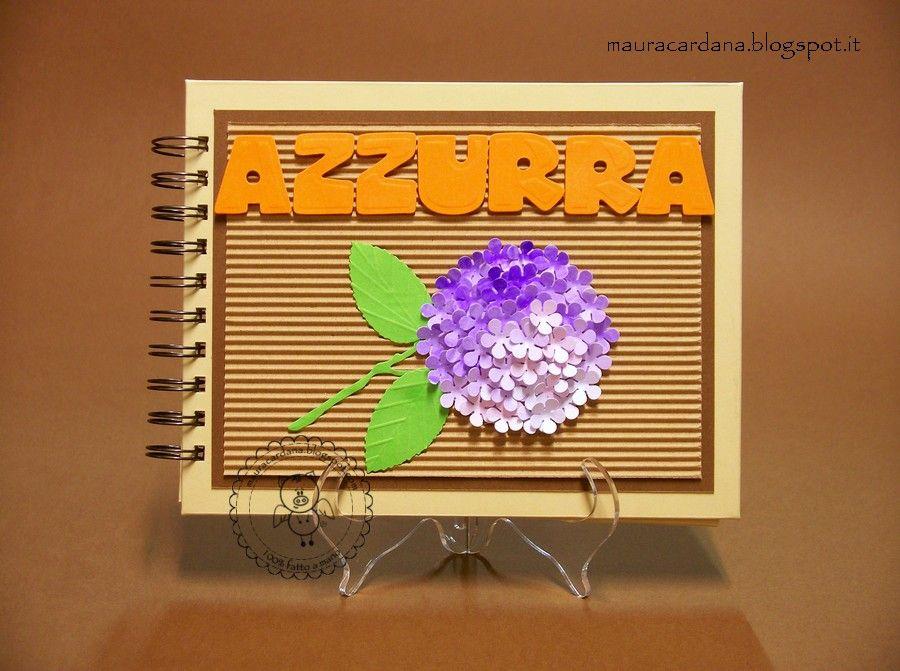 Mini album ortensia by Maura Cardana