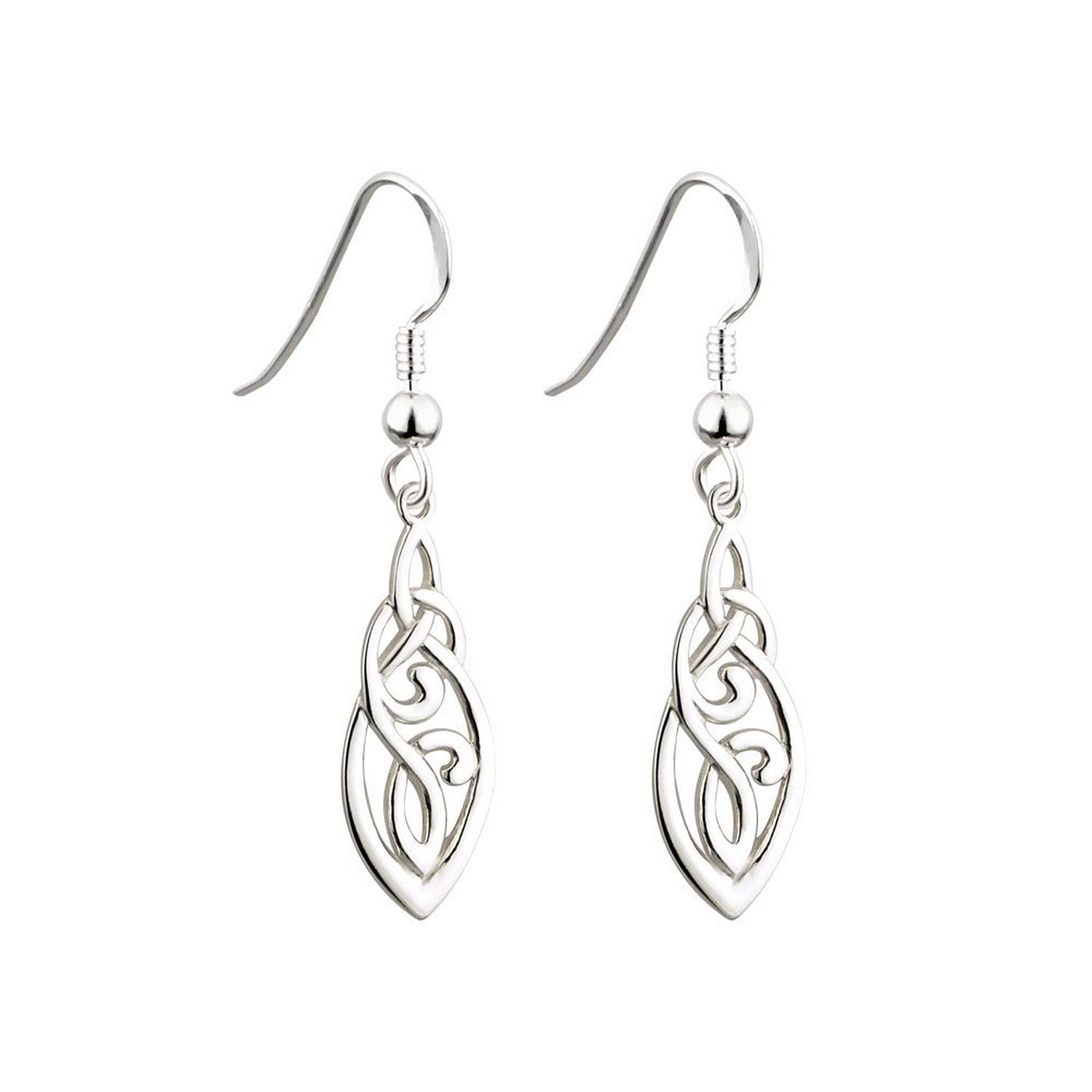 Irish Trinity and Celtic Knot Earrings Sterling Silver -- Read ...