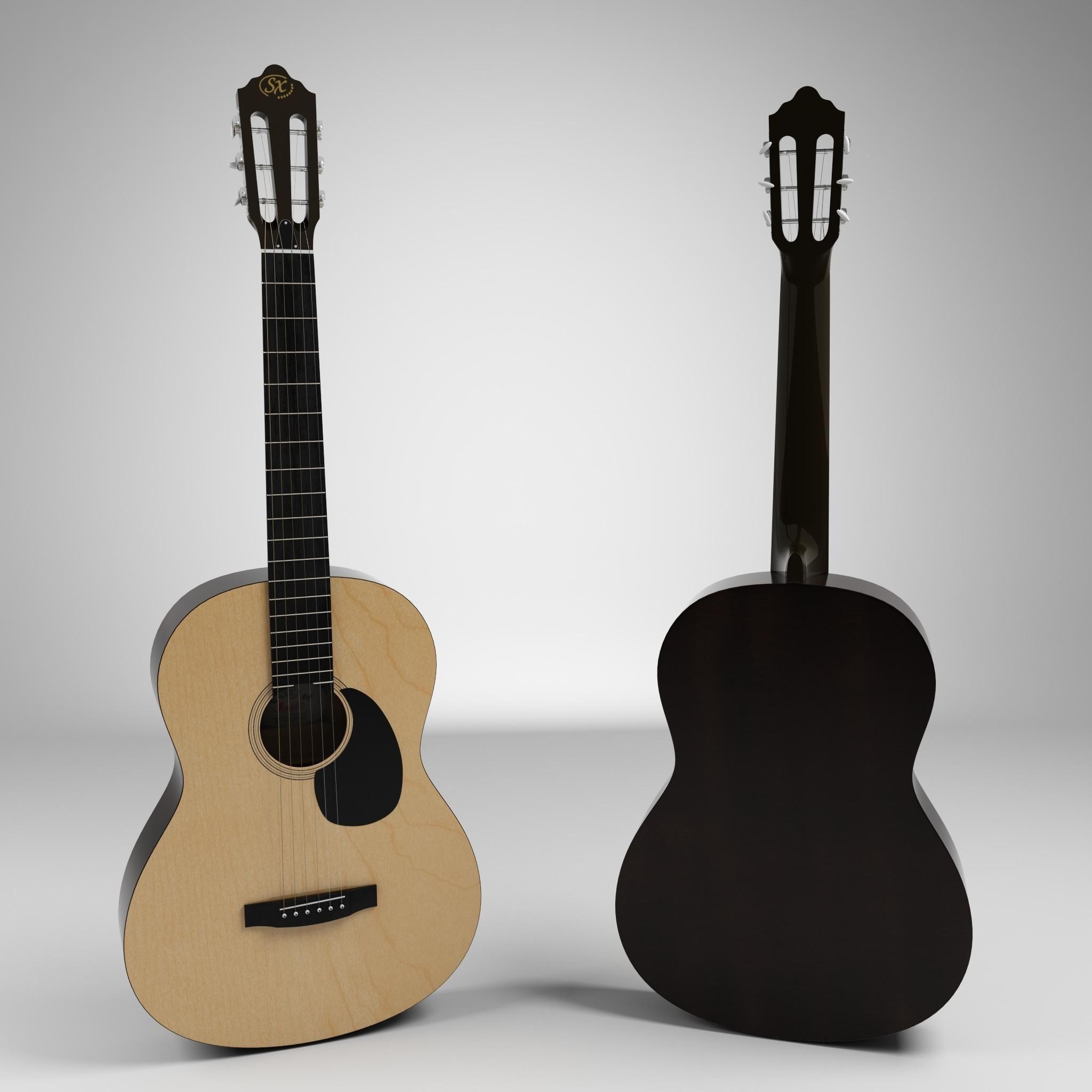 Acoustic Guitar 3d Model Ad Acoustic Guitar Model Guitar Acoustic Guitar Acoustic