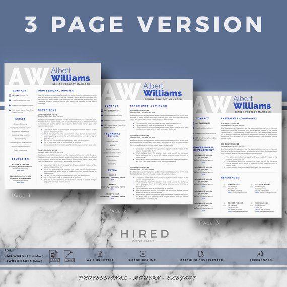 professional resume template  modern resume  cv templates