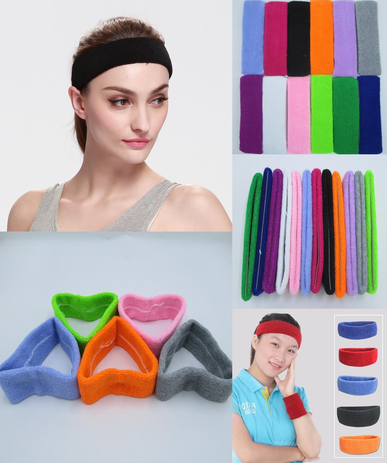 Visit To Buy 100 Cotton Thick Tower Sports Headband Tennis Badminton Basketball Sweatband Head Sweat Band Basketbal Sports Headbands Yoga Headband Sweatband