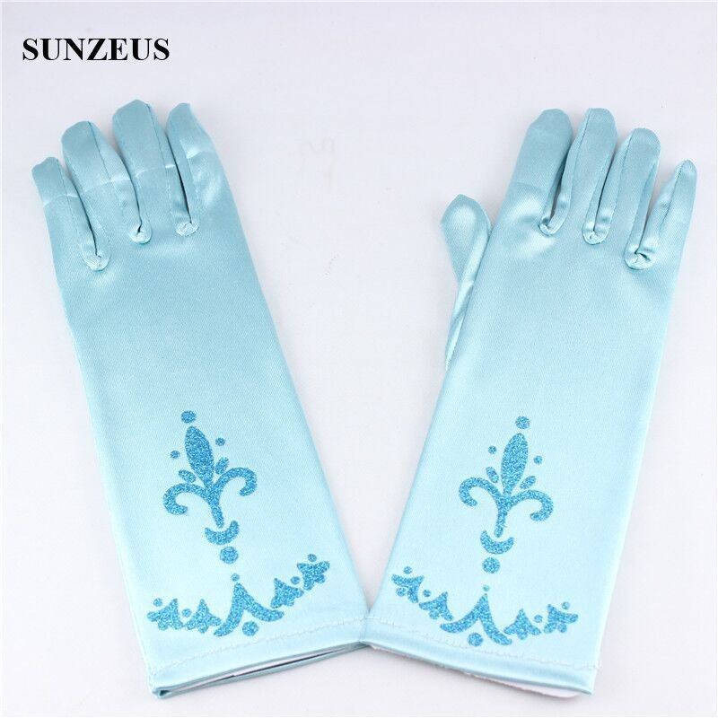 cheap gloves , blue gloves , finger gloves , childern gloves , satin gloves , flower girls gloves ,ELSA gloves, little pricess gloves