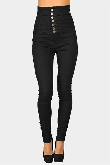 Sky High Jeans - Blue. Simple change. Big impact. Fun for trends