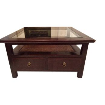 Beautiful Vintage South East Asian Inspired Coffee Table Retro