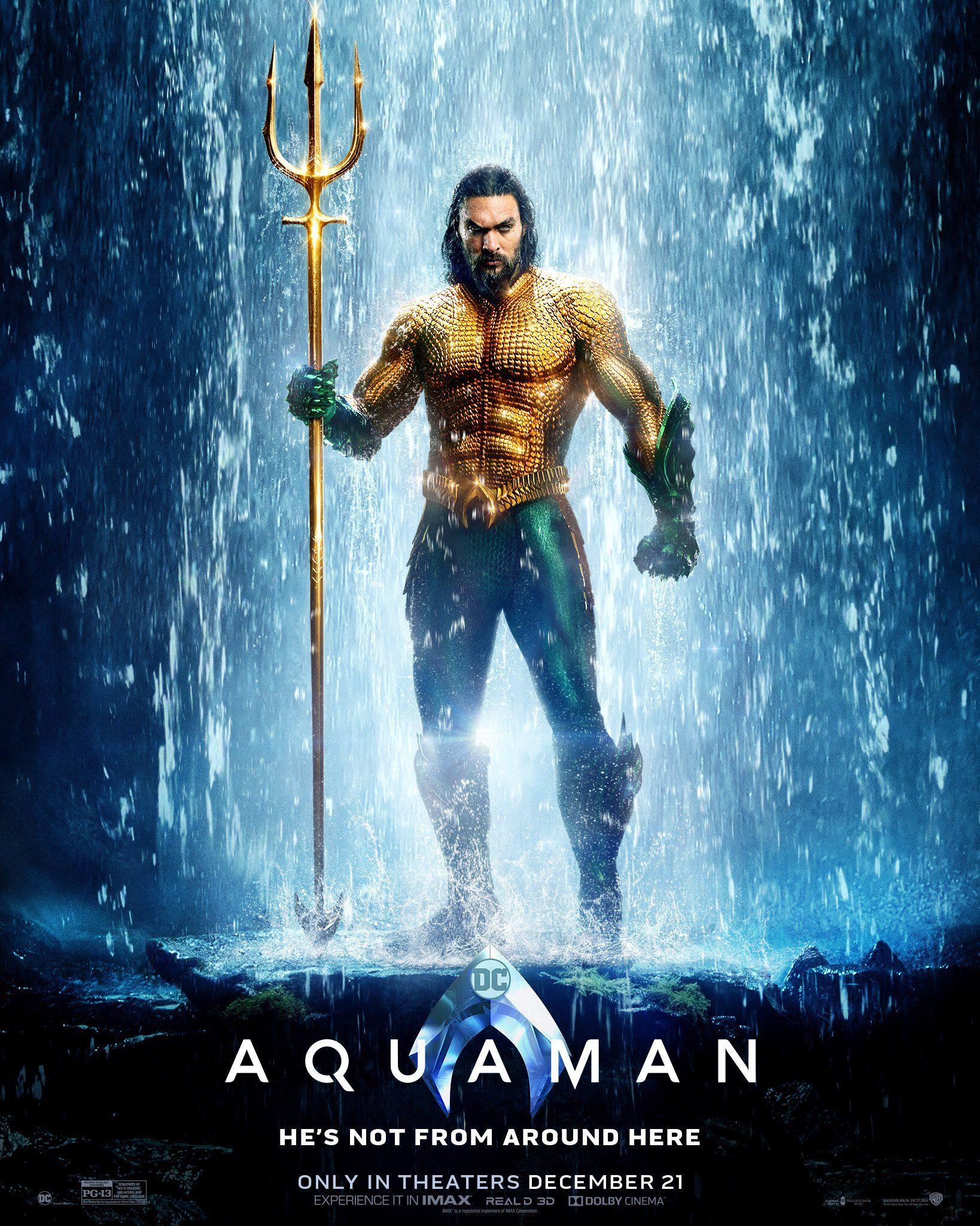 Aquaman Novo Poster Filme Aquaman Aquaman Jason Momoa Aquaman