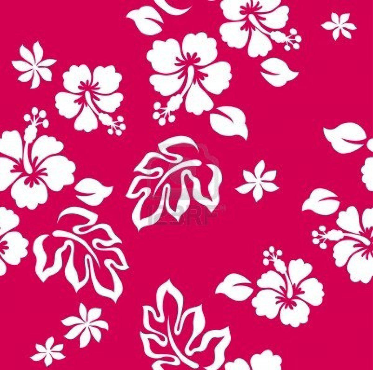 Seamless Hibiscus Flower Pattern Pattern Pinterest Hibiscus