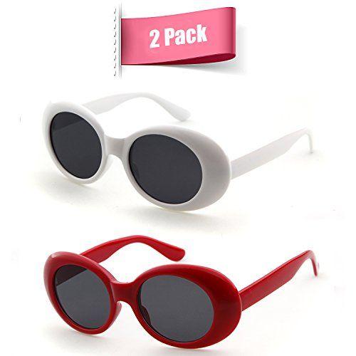 4e3e8d03a7b7 Bold Retro Oval Mod Thick Frame Sunglasses Clout Goggles ... https