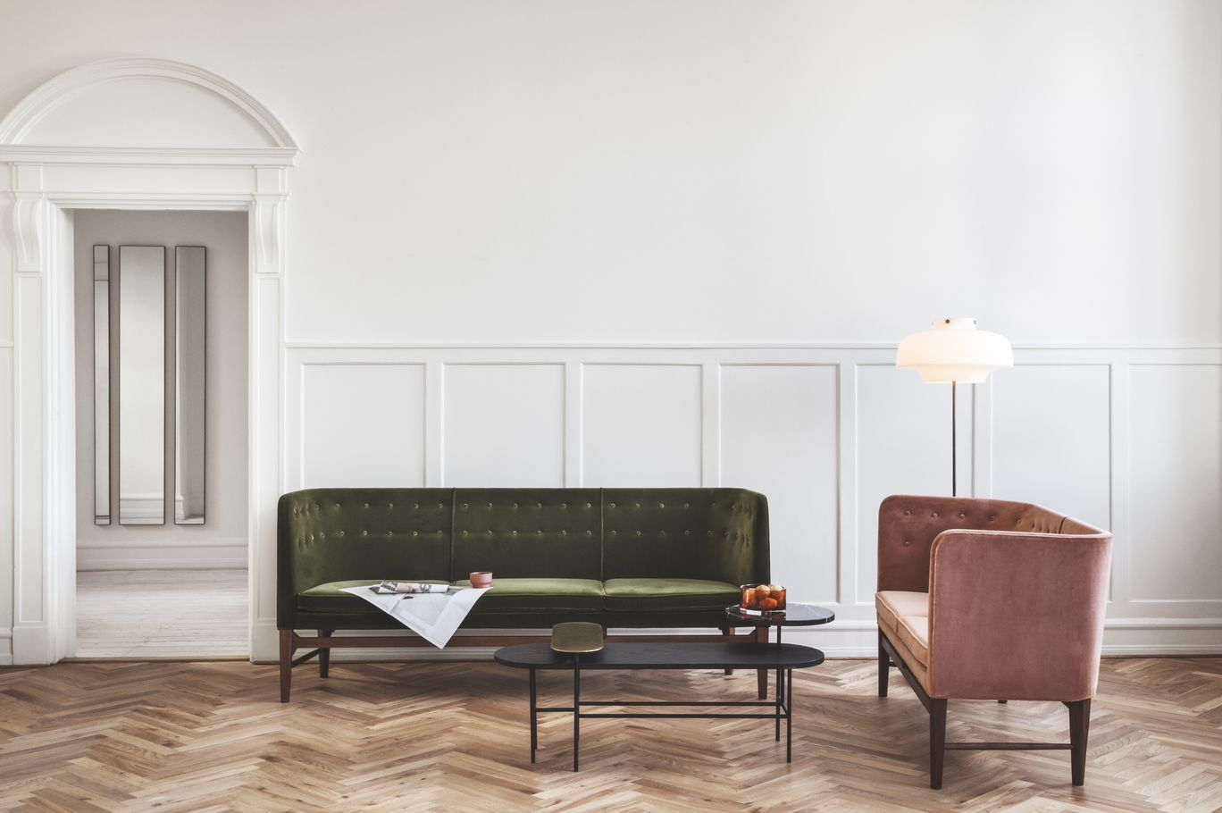 Arne jacobsen interior mayor sofa by arne jacobsen copenhagen floor lamp by space