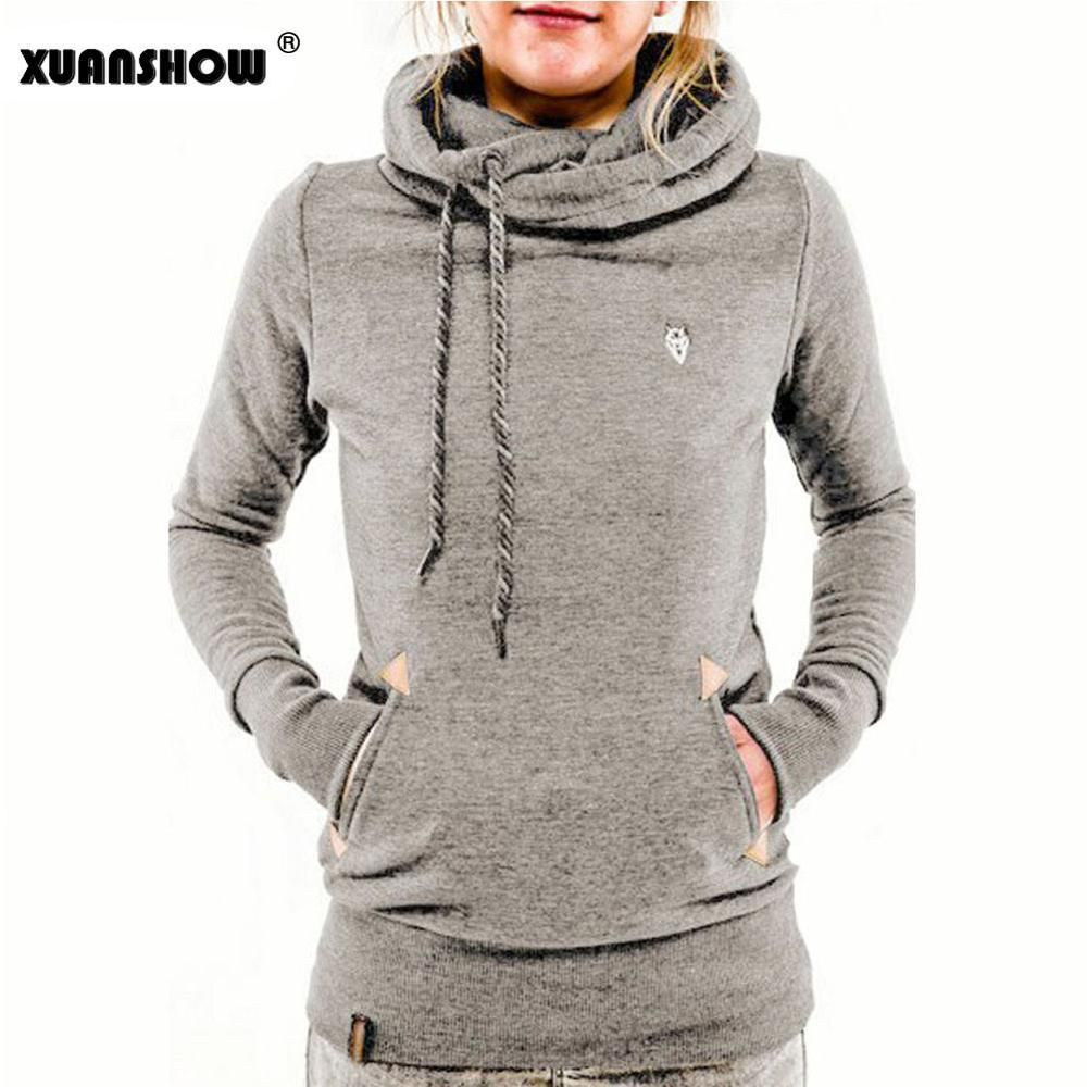Xuanshow Autumn Winter Womens Fashion Fleeces Hoodies Embroidery Pocket Lady Sweatshirts Hooded Casual Tracksuit Pullover Tops Womens Sweatshirts Fashion Women Hoodies Sweatshirts Sweatshirts Women [ 1000 x 1000 Pixel ]
