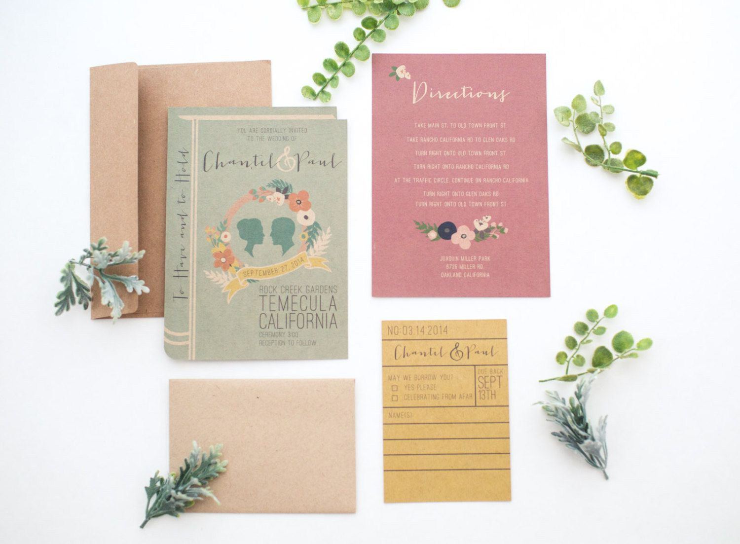DIY printable Library book invitation set by yesdearstudio on Etsy ...