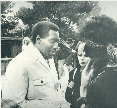 Otis Redding, Jimi Hendrix at Monterey Pop Festival. 1967
