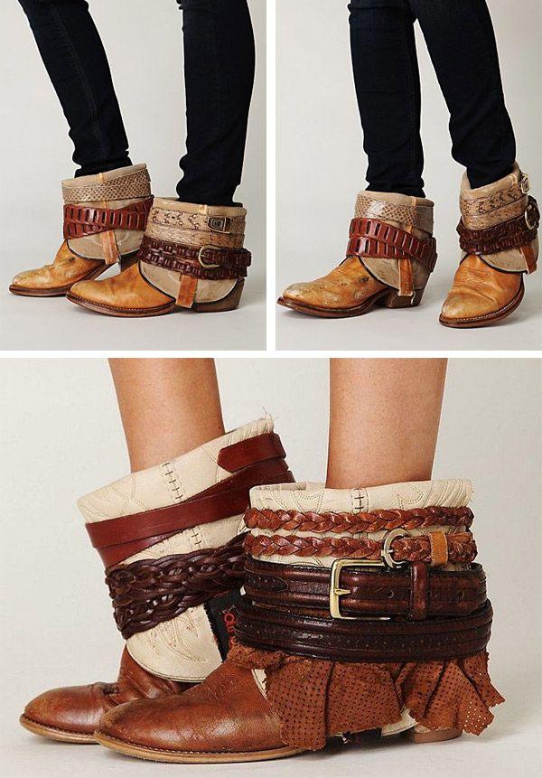 ceintures diy avec customisation boots de vieilles 8OPkXnw0N
