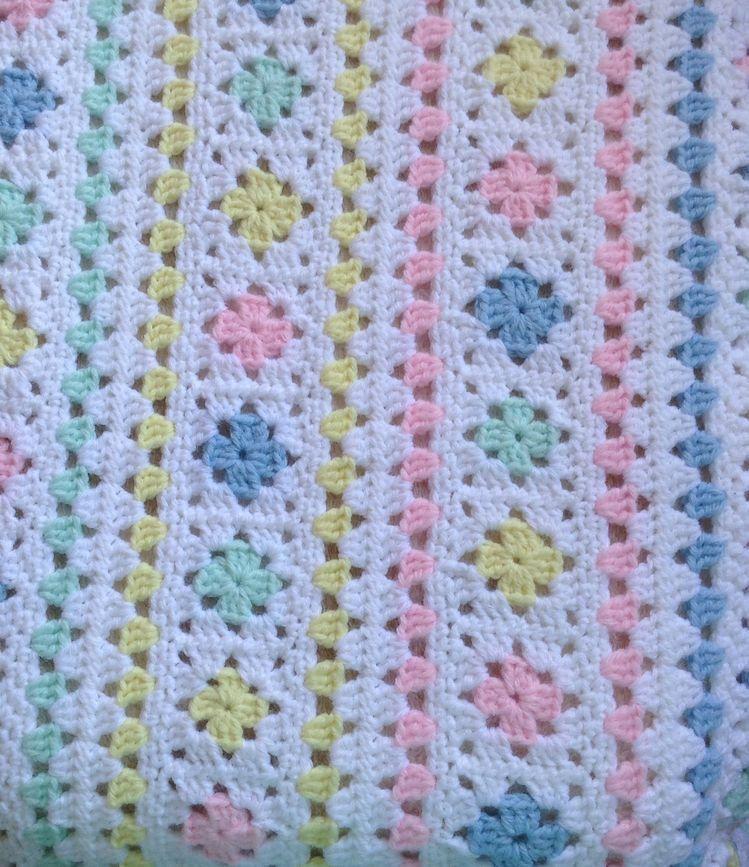 Colchas de crochet faciles