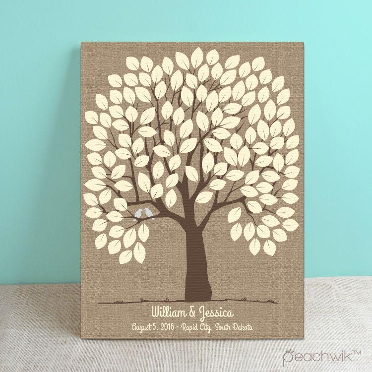 Burlap Tree Wedding Guest Book Alternative - Example photo